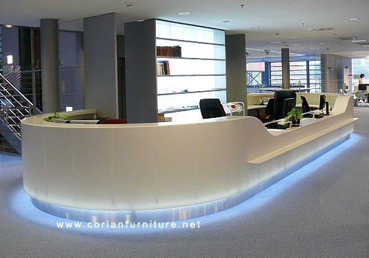 Corian made designed hotel lobby reception desk, View Hotel corian ...