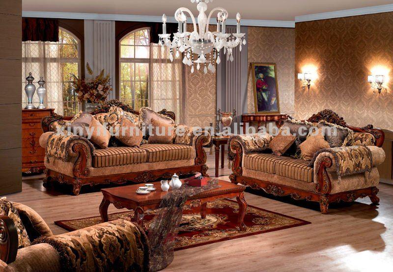 European Living Room Furniture. Wooden Carved ...