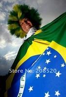 JJ05 Free Shipping Wholesale Brazil National Flag 144*96cm, 100% polyster
