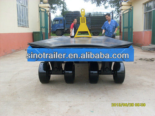 40FT HEAVY DUTY LOW FLATBED EQUIPMENT TRAILER