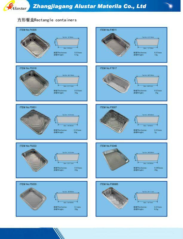 Rectangular aluminum container
