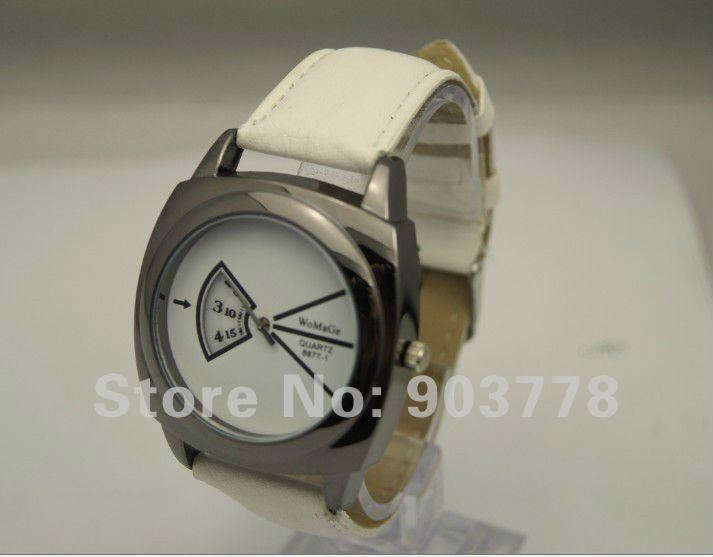 freeshipping wholesale 300pcs/lot fashion analog design, precise quartz movement,pu leather band cheap promotional watch