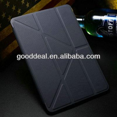 Magnetic PU leather case for ipad 5, Ipad accessary.