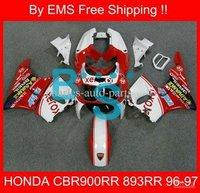 Защитная одежда для мотоциклистов H333 Best red white Fairing for CBR900RR 893RR 96-97 CBR900 RR CBR893 1996-1997 CBR893RR 900RR 96 97 1996 1997