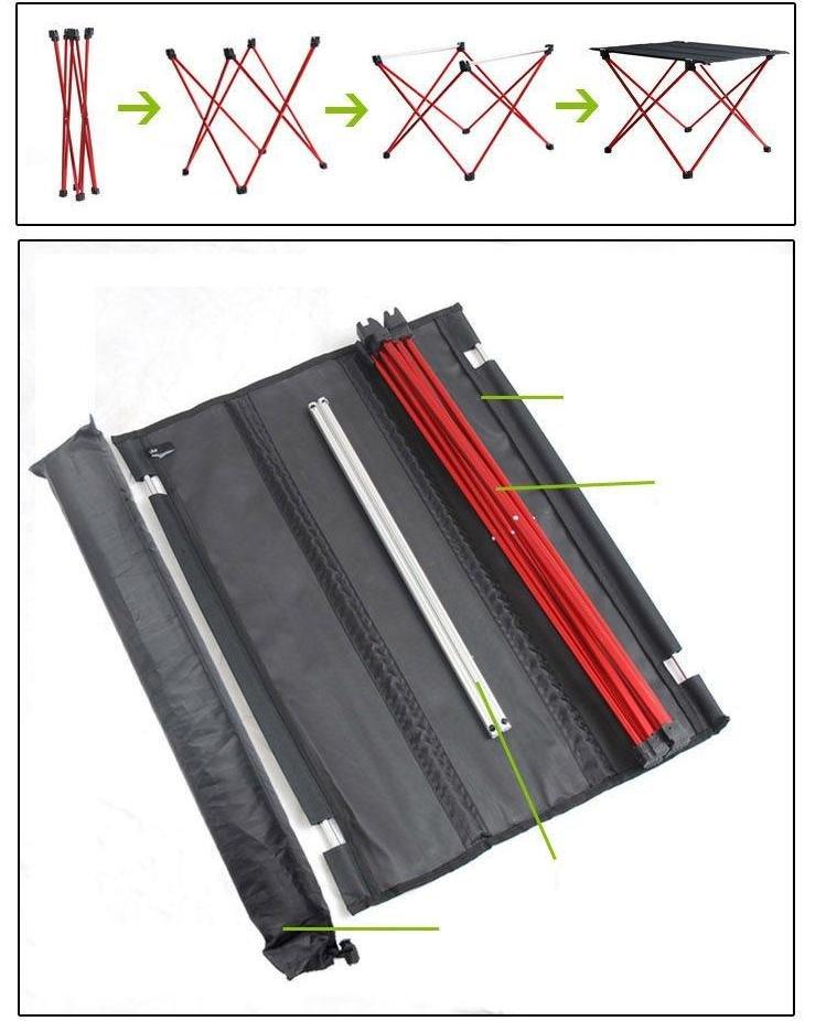 Aluminium Alloy Folding Desk Camping Outdoor Picnic Outdoor Folding Table