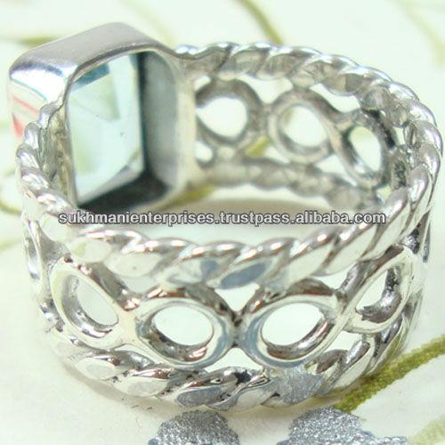 925 entiers sterling silver garnet pierres semi précieuses anneau