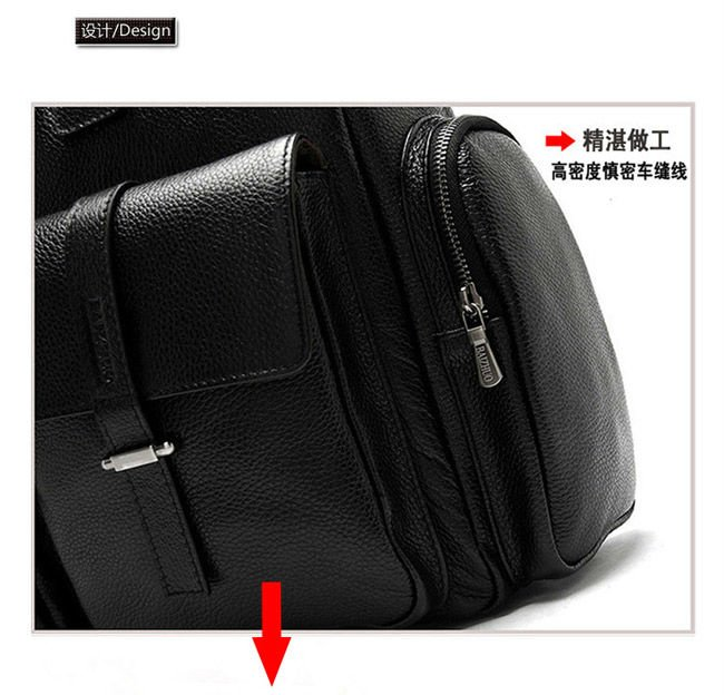 Capacity shoulder leather travel bag men hand-held travel bags