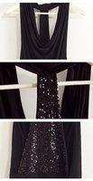 Платье для вечеринки ladies' night bar fashion dress/ sequined backless sexy party dress black-Cheap