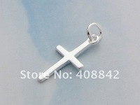 Ювелирная подвеска 925 Sterling Silver Cross Charm Pendant PA21 Fashion DIY Jewelry Fit Bracelet Earring Necklace Retail