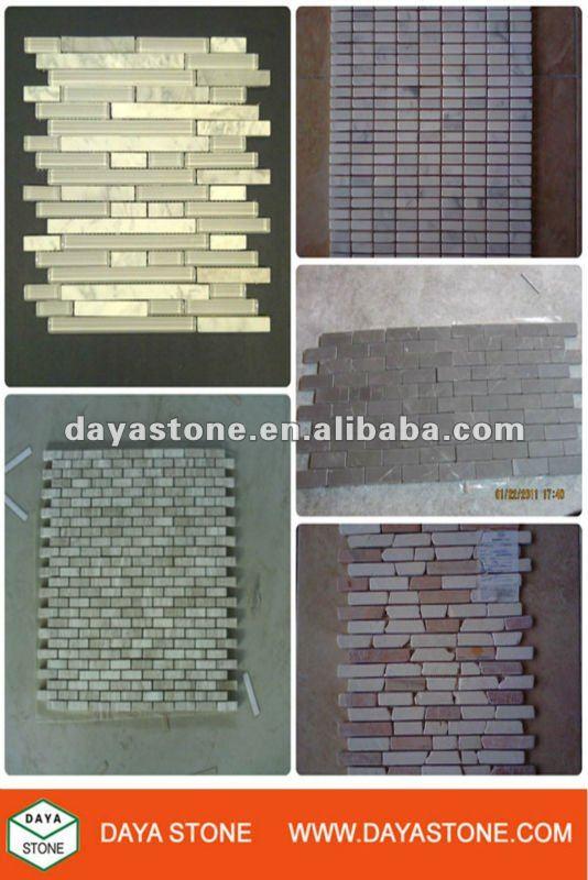 Mattoni di pietra piastrelle mosaico striscia mosaico id prodotto ...