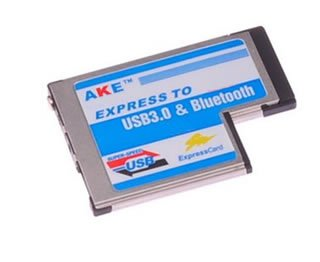 Express Card ExpressCard 54mm to USB 3.0 + Bluetooth 2.0 Combo Adapter Card