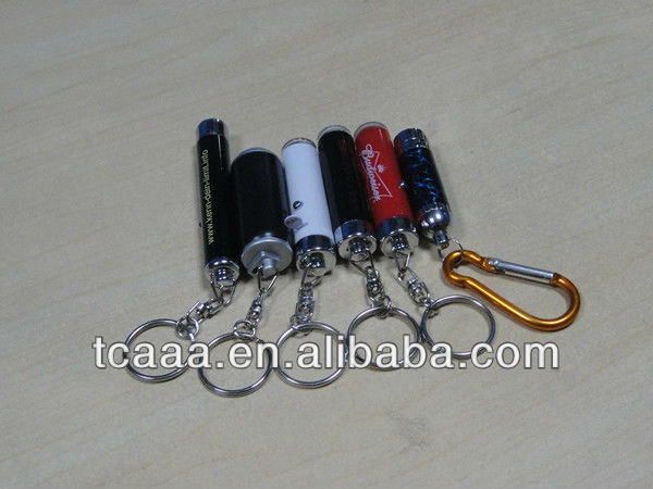 led logo projector torch light keychain