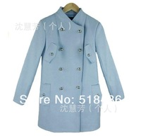 Женский тренч Fashion Women Coats Trend Jacket Dress Ladies Warm Overcoat Outwear, 4Sizes/1Colors To Pick, Factory Price