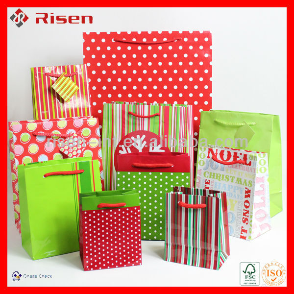 lovely sweet Christmas mini paper gift bags