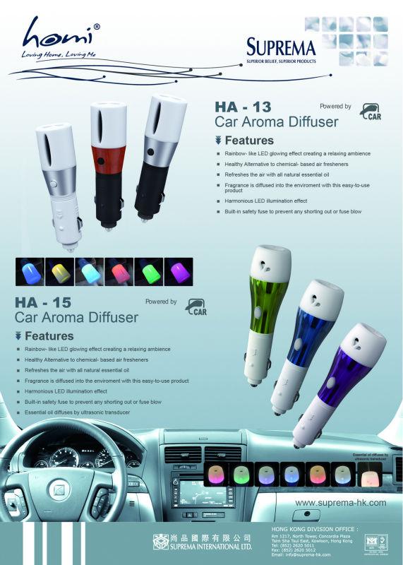 HA13 LED Essential oil Car Aroma Diffuser