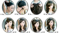 Парик New Fashion Long Black Brown Cute Girl Full Party Hair Wig