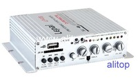 Автомобильный стерео усилитель Lepai LP-V9 W/ USB/SD Player 2*180W Hi-Fi Stereo Amplifier