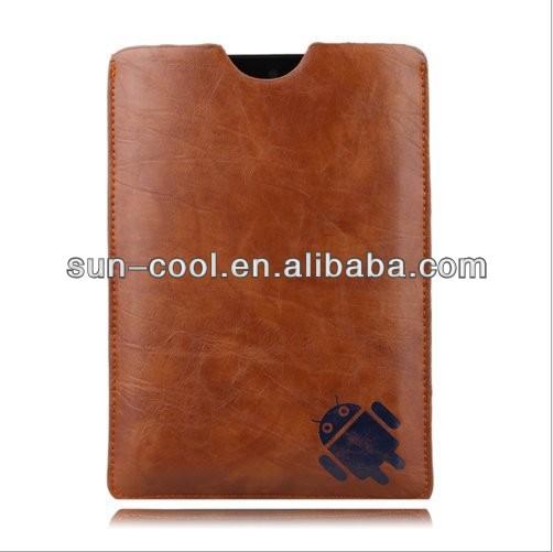 "For HP Slate 7"" tablet Soft sleeve bag case cover pouch, Newest leather cover case for hp slate 7 tablet"