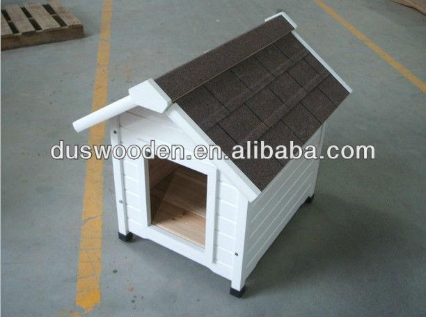 white dog kennel