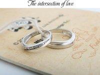 925 серебряные бриллиантовое кольцо, 925 стерлингового серебра любителей пара кольца Свадебные украшения, гравировка письмо бесплатно