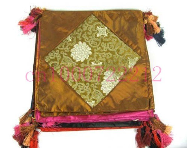 Free shipping! 10pcs wedding fitment cushion, silk cushion, chinese traditional cushion mat pad bag pocket