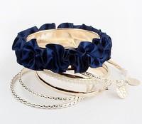 Free shipping (5xbangles=1piece)  Multilayer Charm Lace Bangle & Bracelet  BP90