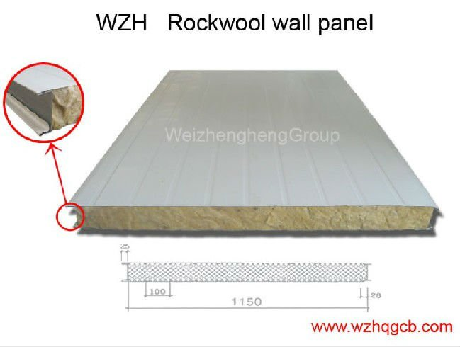 Composite Insulation Fire Resistant Rockwool Wall Panel
