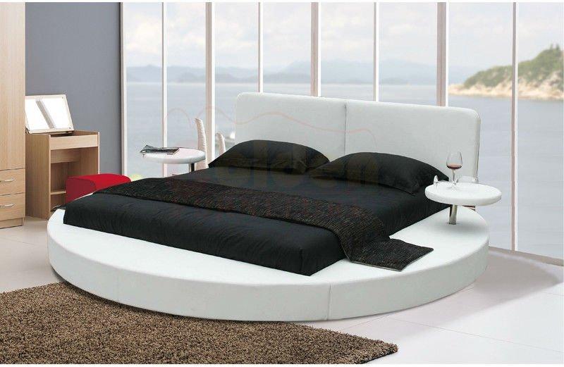 Ensemble de chambre coucher moderne meubles lit rond for Lit chambre a coucher moderne