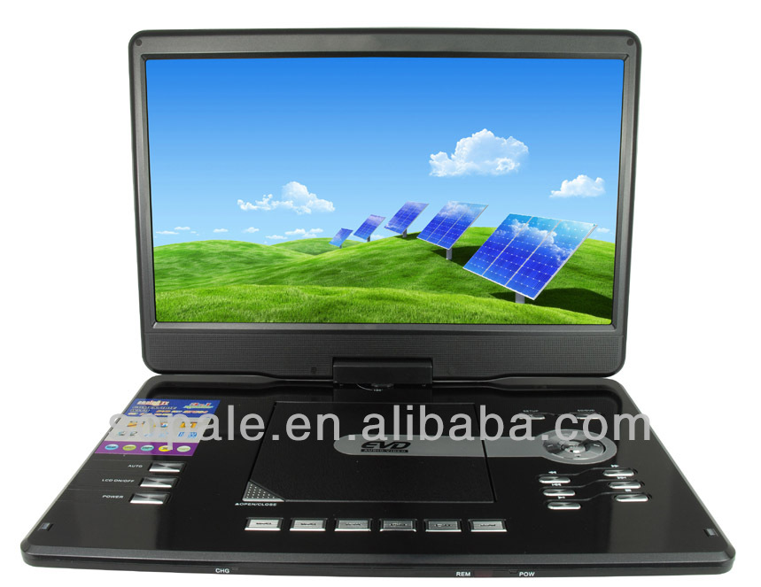 16 inch 3D portable dvd player with Analog TV