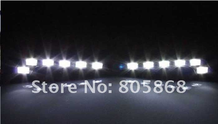 Free shipping&special offer 6 LEDS auto DRL daytime running light /fog lamps