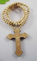 100% HQ Free shipping 2012 New arrival Hot selling Hip hop Holy Cross Wooden pendent necklace