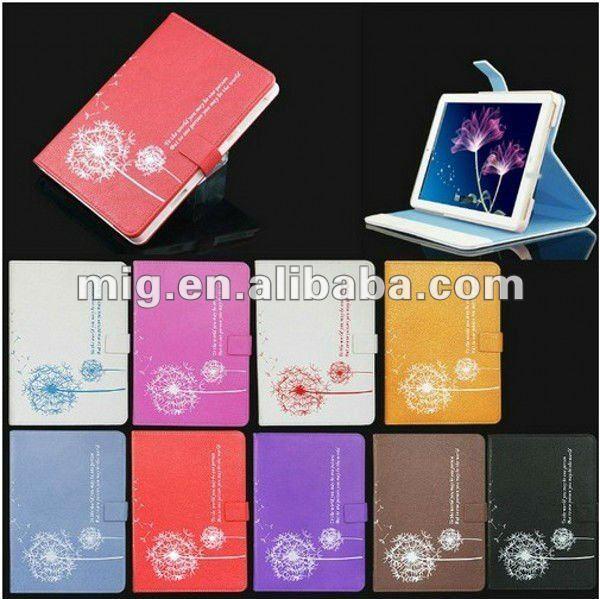 Dandelion Folio Leather Case for mini Ipad case