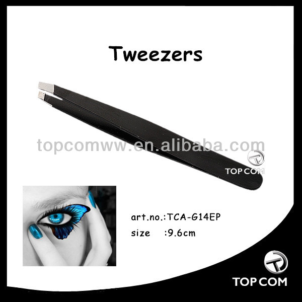slanted personalized tweezers