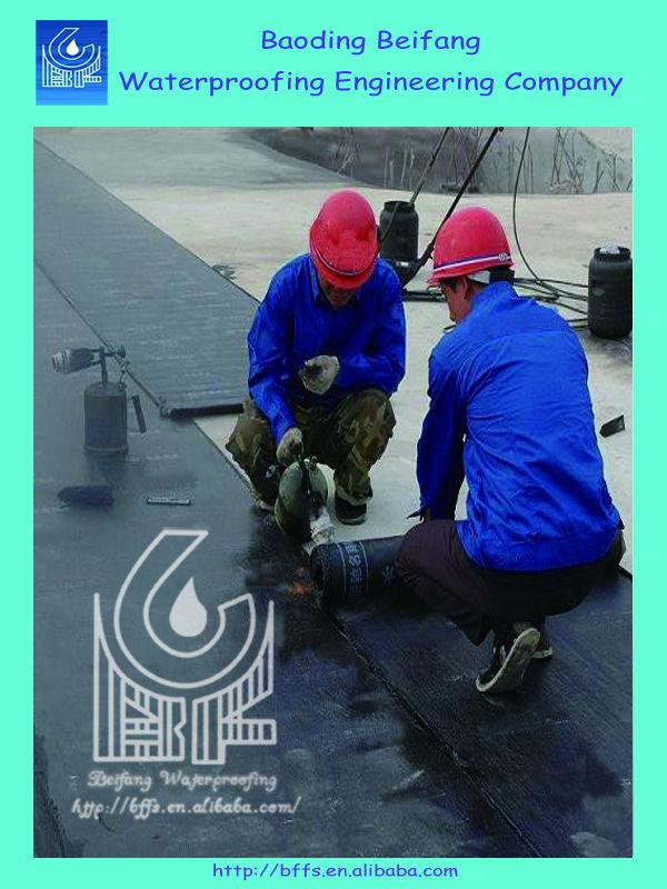 4mm PE SBS asphalt roofing membrane for waterproofing