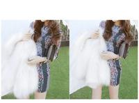 2013 Free Shipping new fashional slim women 's autumn-winter long  jacket  plus size (with belt ) black coat 7206