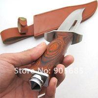 Охотничий нож Hot Rambo! III Type Hunting Knife Outdoor Tool For Camping Steel 420J2 Trumpet Leather