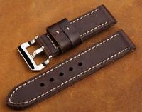 приятный подарок! Последние ручной работы старинных коричневый ремешок для часов 24 мм pre-v пряжки натуральная кожа Часы группа ремешок для panerai