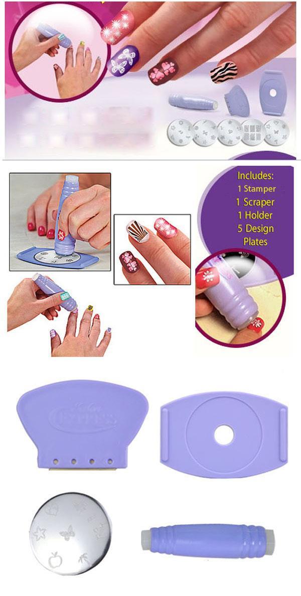 Как сделать трафареты для ногтей в домашних