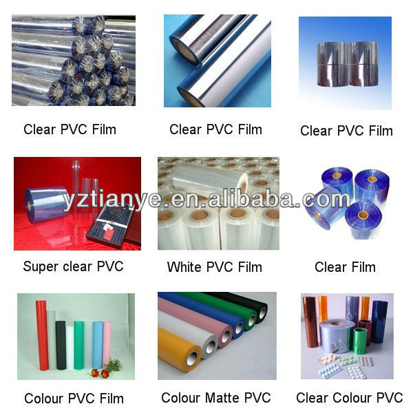 High gloss soft plastic PVC clear film/sheet