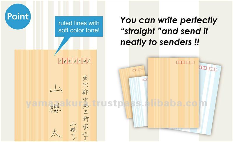 Wallet Design Envelopes with straight stripe