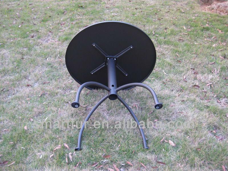외 금속 테이블 현대적인 스틸 식탁 스타 벅스 파라솔 테이블 ...