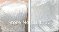 white/ivory empire line sleeveless long train wedding bridal dress size custom