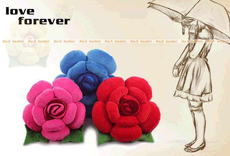 throw pillow, flower rose pillow Free shipping Z085
