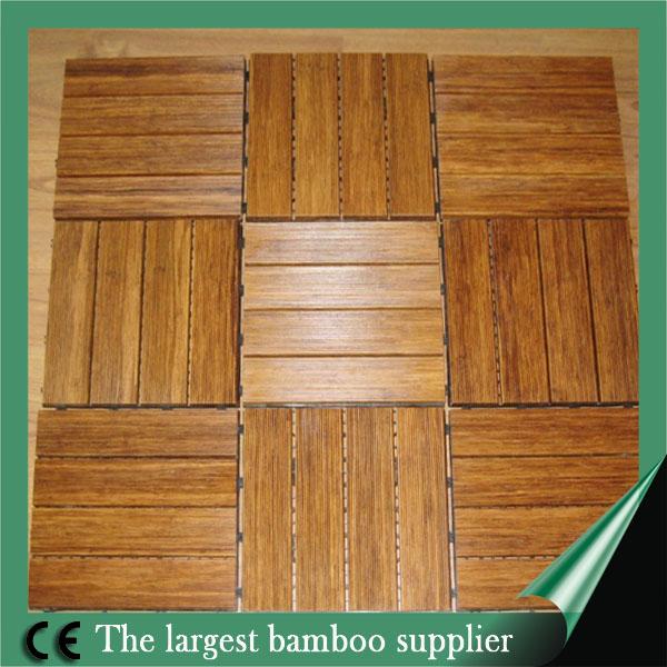 Dark Chocolate Color Outdoor Strand Woven Bamboo Decking For Garden