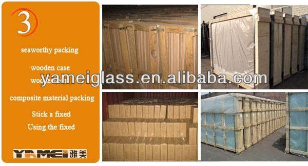 High quality double glazing glass price per square meter