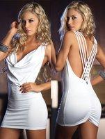 Tight of  dress wrap hip  sling short dress V-neck halter Night Club dress