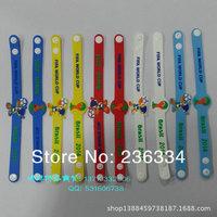 Спортивный сувенир Brazil World Cup Football Fans Gift PVC Fuleco Emblem Buckle Strap Wristband Bracelet Souvenir SJ23