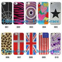 Чехол для для мобильных телефонов Hot Sale Diamond Bling Case Plastic Hard Back Cover Crystal Rhinestone For iPhone 5 iPhone5