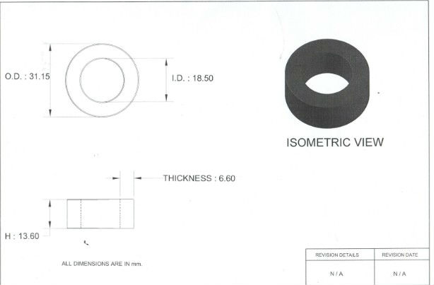 Soft iron core for inductor and transformer