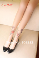 Trendy Sexy Tattoo Pattern Temptation Sheer Pantyhose Tights Stockings Leggings more styles for opitions